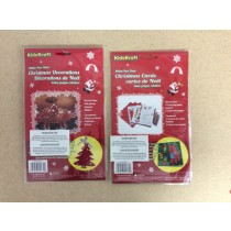 Christmas Decoration & Christmas Cards Craft Kits ~ 2 asst