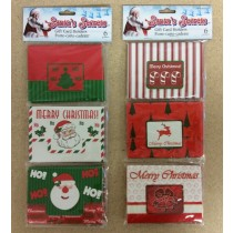Christmas Gift Card Holders ~ 6/pcs