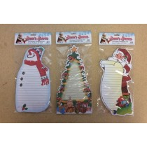 Christmas Die-Cut Magnetic Shopping Lists - 40 pages