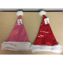 "Christmas Mosaic Santa Hat ~ 20""L ~ Red or Pink"