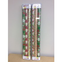 "Christmas Wrapping Paper ~ 3 rolls x 30"" x 72"""