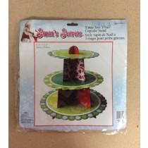 Christmas Cupcake Tree 3-Tier Stand