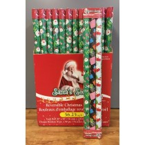 "Christmas Reversible Roll Wrapping Paper - 30"" x 90"" each roll x 3 rolls per pack"