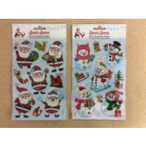 Christmas Glitter Googley Eye Stickers ~ 2 asst