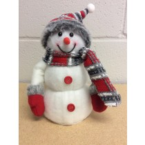 "Christmas Snowman with LED Lights ~ 8""H"