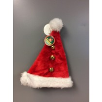 "Plush Santa Hat w/Bells ~ 18""L"