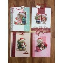Large Christmas Gift Bags w/Teddy Bears
