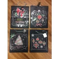 Large Christmas Gift Bags ~ Black