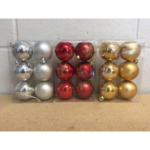 Christmas Tree Ball Ornaments 60mm ~ 6 per pack