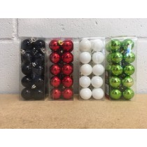 Christmas Tree Vintage Color Ball Ornaments 30mm ~ 20 per pack
