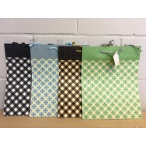 Large Gift Bags ~ Checkered Patterns
