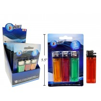X-Lite Disposable Clear Lighters ~ 3 per card