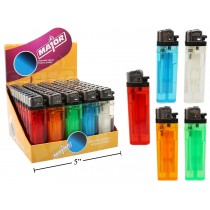 Disposable Transpartent Lighters ~ 50 per display