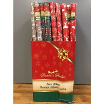 "Christmas Single Roll Wrapping Paper ~ 30"" x 96"""