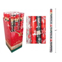 "Christmas Single Roll Wrapping Paper ~ 30"" x 72"""