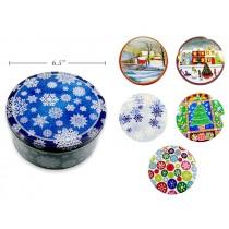 "Christmas Cookie Tins - Midsize ~ 6.5""D"