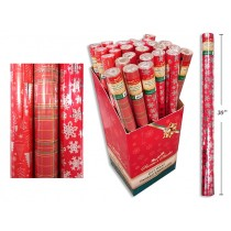 "Christmas Single Roll Foil Wrapping Paper ~ 30"" x 200"""