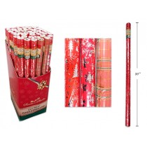 "Christmas Single Roll Foil Wrapping Paper ~ 30"" x 72"""