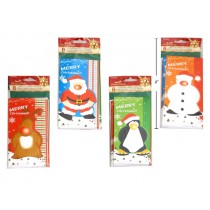 Christmas Glitter Money Card Holder ~ 5 per pack