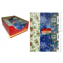 Christmas Flat Gift Wrap - 22 Sq-Ft ~ 6 sheets per pack