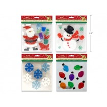 Christmas Gel Window Clings ~ 4 asst.