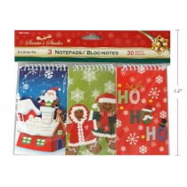 Christmas Note Pads - 30 sheets per pad ~ 3 pads per pack