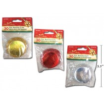 "Christmas Foil Baking Cups - 2""D ~ 30 per pack"