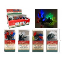 Christmas Battery Operated LED Light Set ~ 15 per string