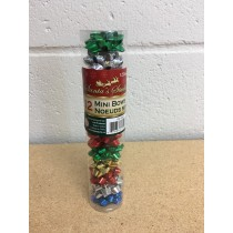 "Christmas Mini Bows in Acetate Tube - 1.5"" ~ 12 pieces"