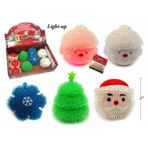 Christmas LED Light-Up Puff Characters ~ 12 per display