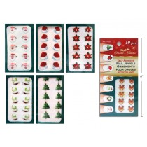 Christmas Self Adhesive Finger Nail Jewels ~ 10 per pack
