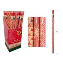 "Christmas Single Roll Kraft Wrapping Paper ~ 30"" x 72"""