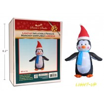 Christmas Inflatable 3-LED Light-Up Penguin ~ 4'