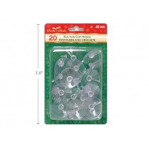 Christmas Suction Hooks -40mm ~ 20 per pack