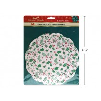 "Christmas Grease Proof Mistletoe Paper Doilies - 8.5"" ~ 16 per pack"