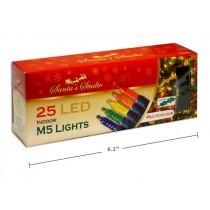 Christmas Indoor LED M5 String Lights - Multi ~ 25pk / 5'