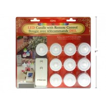 LED Tealight Candles with Remote Control ~ 10 per pack