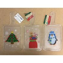 "Christmas Printed Cutting Board ~ 13.25"" x 6-5/8"""