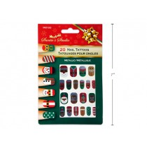 Christmas Metallic Nail Tattoos ~ 20 per pack