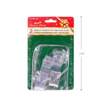 "Christmas Suction Window Wreath Hook - 3-1/8"" ~ 2 per pack"