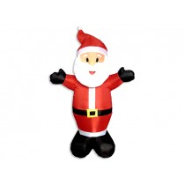 Christmas Inflatable 3- LED Light-Up Santa ~ 4'