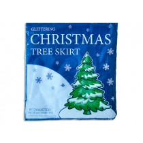 Christmas Glittering White Snow Blanket Tree Skirt ~ 34""