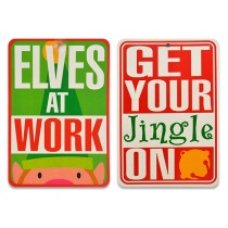 Christmas Double Sided Funny Saying Sign with Suction Cups