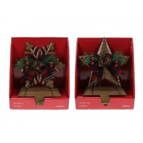 Christmas Metal Star / Snowflake Stocking Holders