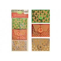 "Christmas Craft w/Foil Hotstamp Gift Card Holders - 4.5"" w x 3.25"" h ~ 3 per pack"