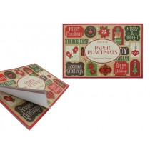 "Christmas Paper Placemats - 16-1/8"" x 11-1/8"" ~ 15 sheets per pack"