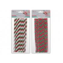 Christmas Swirl Paper Straws ~ 20 per pack
