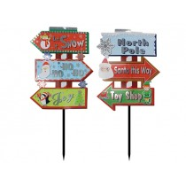 Christmas Outdoor Foil Direction Sign ~ 23.5""