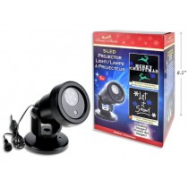 Christmas 5-LED Outdoor Static + Rotating Projection Light Show