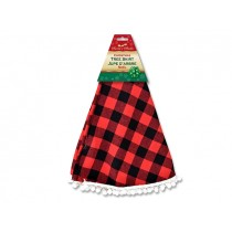 "Christmas Buffalo Plaid Tree Skirt ~ 38"" Diameter"